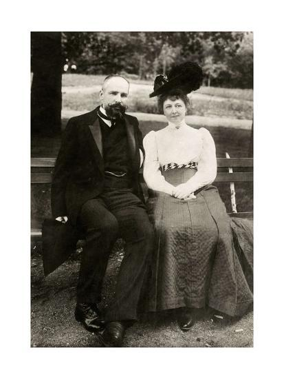 Portrait of the Prime Minister of Imperial Russia Pyotr Stolypin with His Wife, 1910--Giclee Print