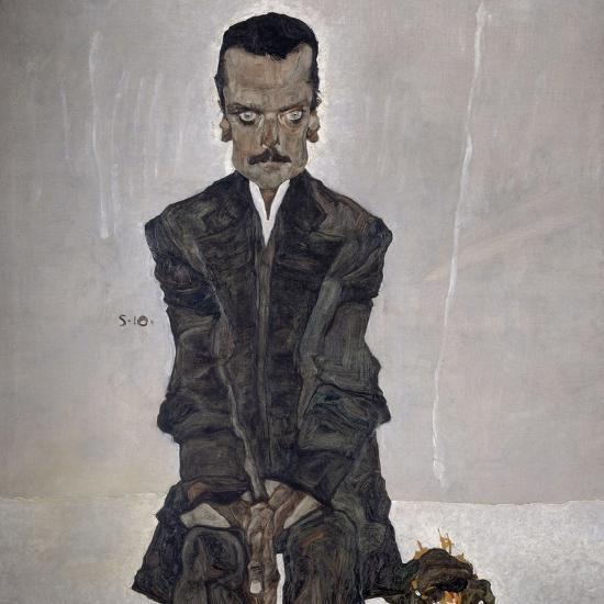 Portrait of the Publisher Eduard Kosmack, 1910-Egon Schiele-Giclee Print