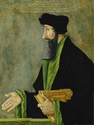 Portrait of the Reformer Johannes Oecolampadius, Ca. 1550-Hans Asper-Giclee Print