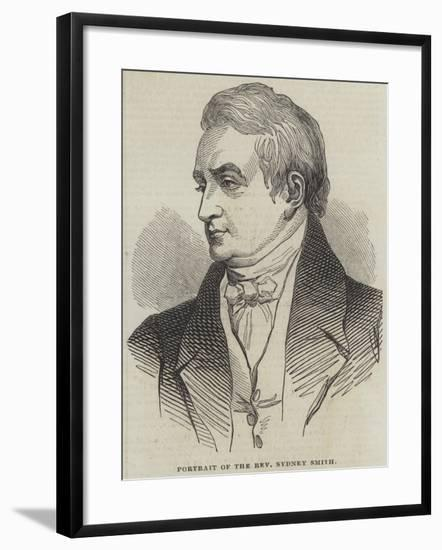 Portrait of the Reverend Sydney Smith--Framed Giclee Print