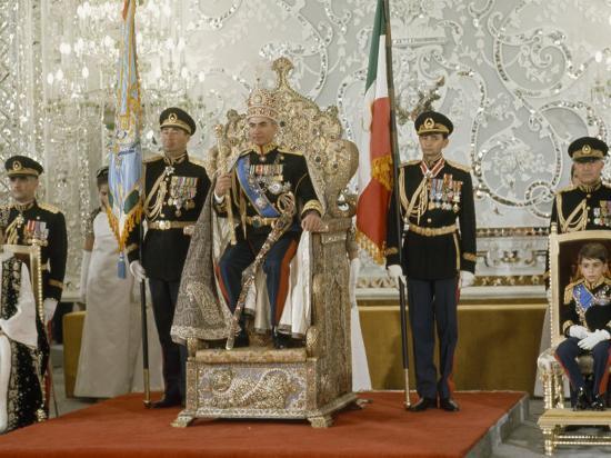 Portrait of the Shah of Iran Taken During Coronation Ceremonies, Gulistan Palace, Tehran, Iran-James L^ Stanfield-Photographic Print