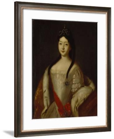 Portrait of the Tsesarevna Anna Petrovna of Russia, the Daughter of Emperor Peter I of Russia, 1725-Louis Caravaque-Framed Giclee Print