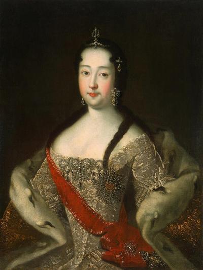 Portrait of the Tsesarevna of Russia Anna Petrovna of Russia, (1708-172), after 1721-Ivan Grigorievich Adolsky the Elder-Giclee Print