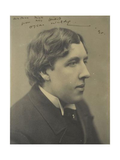 Portrait of the Writer Oscar Wilde (1854-190), 1890--Giclee Print