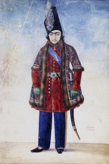 Portrait of the Young Nasr Al-Din Shah, C.1845-6-Abu'l Hassan Ghaffari-Giclee Print