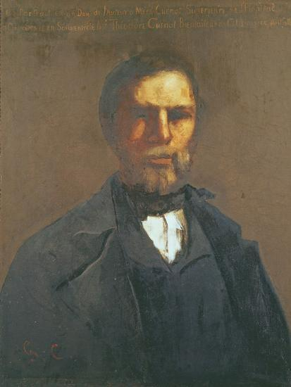 Portrait of Theodore Cuenot, 1847-Gustave Courbet-Giclee Print