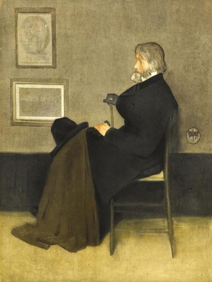 Portrait of Thomas Carlyle, C.1880 (Hand-Coloured Photogravure, on White Wove Paper)-James Abbott McNeill Whistler-Giclee Print