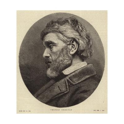 Portrait of Thomas Carlyle--Giclee Print