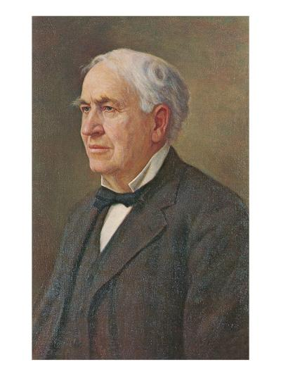 Portrait of Thomas Edison--Art Print
