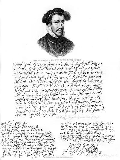 Portrait of Thomas Howard, 4th Duke of Norfolk, 1572--Giclee Print