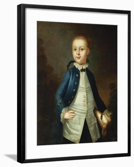 Portrait of Thomas Ritchie, c.1765-John Wollaston-Framed Giclee Print