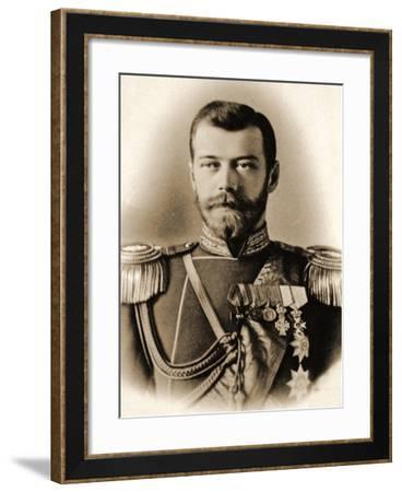 Portrait of Tsar Nicholas II--Framed Photographic Print