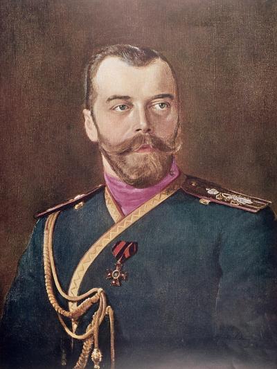 Portrait of Tsar Nicholas II--Giclee Print