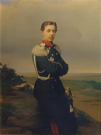 Portrait of Tsarevich Nicholas Alexandrovich of Russia-Sergei Konstantinovich Zaryanko-Giclee Print