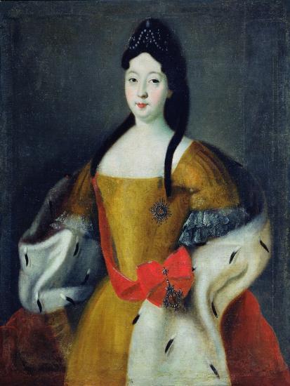 Portrait of Tsarevna Anna Petrovna, 1740s--Giclee Print