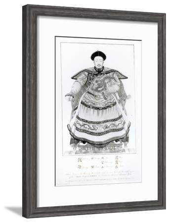 Portrait of Tsien-Loeng, Emperor of the Middle Kingdom, engraved by Mariano Bovi, 1795--Framed Giclee Print