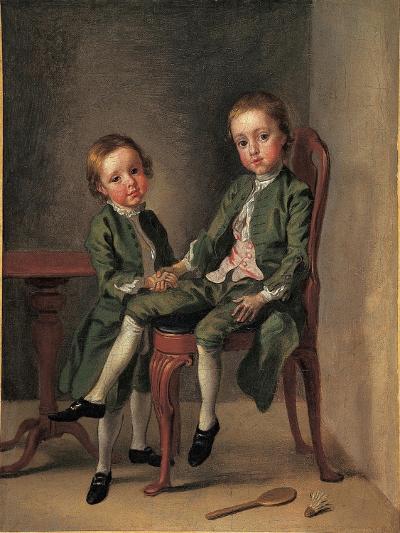 Portrait of Two Boys, 1740-42-Francis Hayman-Giclee Print
