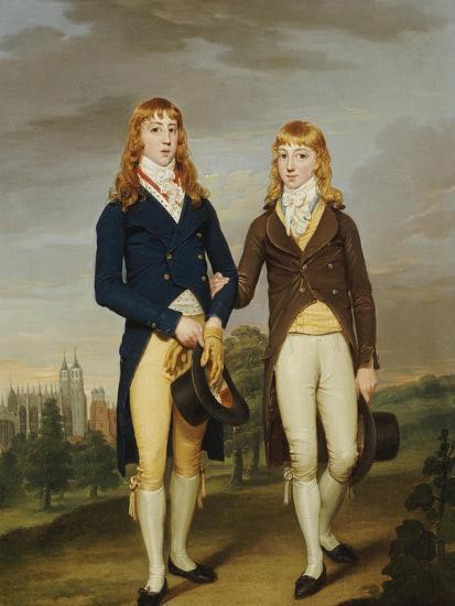 Portrait of Two et on Schoolboys, et on Chapel Beyond-Francis Alleyne-Giclee Print