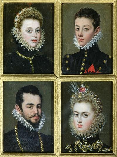 Portrait of Two Men and Two Women-Alonso Sanchez Coello-Giclee Print