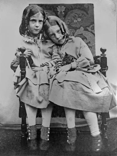 Portrait of Two Young Girls, C.1853-John Gregory Crace-Giclee Print