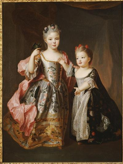 Portrait of Two Young Girls, Said to Be Adelaide and Victoire, Daughters of Louis Xv-Alexis Simon Belle-Giclee Print