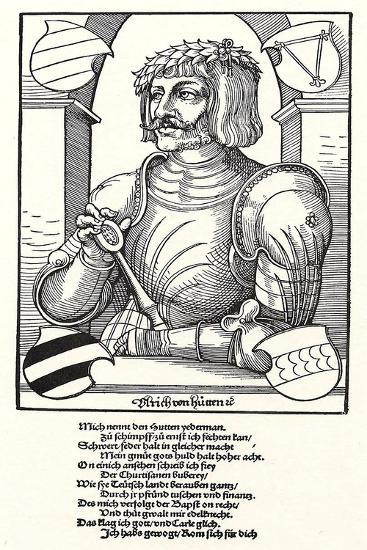 Portrait of Ulrich Von Hutten (1488-152)-Erhard Schoen-Giclee Print