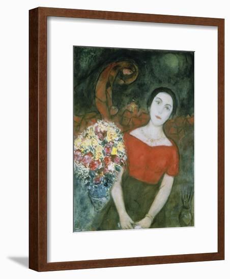 Portrait of Vava-Marc Chagall-Framed Premium Giclee Print