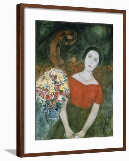 Portrait of Vava-Marc Chagall-Framed Giclee Print