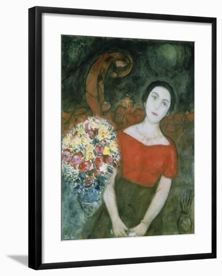 Portrait of Vava-Marc Chagall-Framed Giclee Print