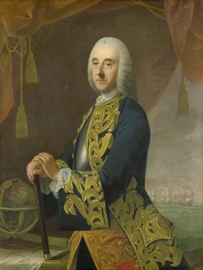 Portrait of Vice-Admiral Hendrik Lijnslager, Son of Harmen Lijnslager and Judith Allijn-Guillaume de Spinny-Art Print