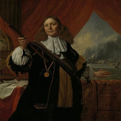 Portrait of Vice-Admiral Johan De Liefde--Art Print