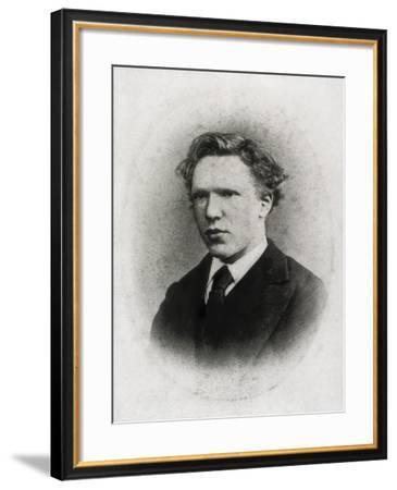 Portrait of Vincent Van Gogh at Age 18-Vincent van Gogh-Framed Art Print