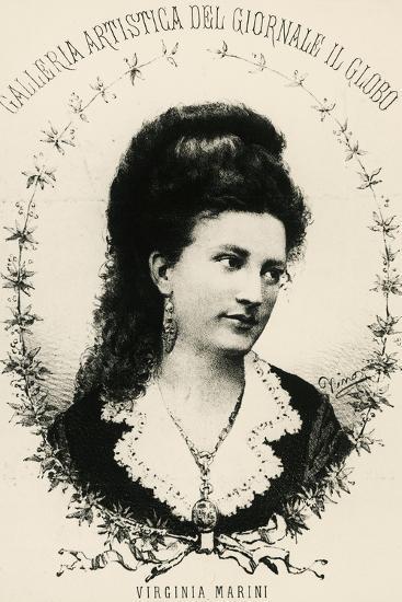Portrait of Virginia Marini--Giclee Print
