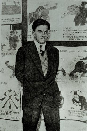 Portrait of Vladimir Vladimirovitch Maiakovski--Photographic Print