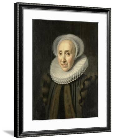 Portrait of Volckera Claesdr Knobbert (Volckera Nicolai Duyst, Called Knobbert)-Michiel Jansz van Mierevelt-Framed Art Print