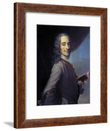 Portrait of Voltaire after Maurice Quentin De La Tour--Framed Giclee Print
