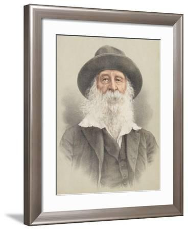 Portrait of Walt Whitman (1819-91)--Framed Giclee Print