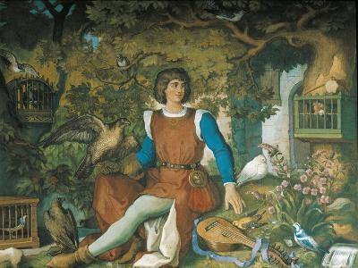 Portrait of Walther Von Der Vogelweide, from the Tannhauser Saga-Eduard Ille-Giclee Print