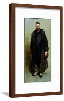 Portrait of William Merritt Chase (1849-1916) 1881-82-James Carroll Beckwith-Framed Giclee Print