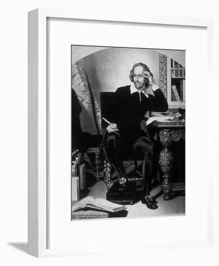 Portrait of William Shakespeare-John Faed-Framed Photographic Print
