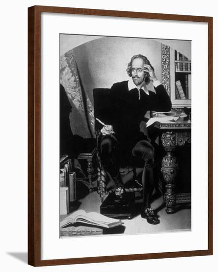Portrait of William Shakespeare-John Faed-Framed Photographic Print