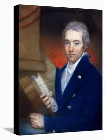 Portrait of William Wilberforce (1759-1833) by William Lane (1746-1819)-John Russell-Stretched Canvas Print