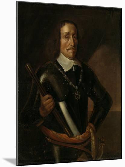 Portrait of Witte Cornelisz De With, Vice-Admiral of Holland and West-Friesland-Hendrick Martensz Sorgh-Mounted Art Print