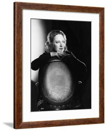 Portrait of Woman on Chair--Framed Photo