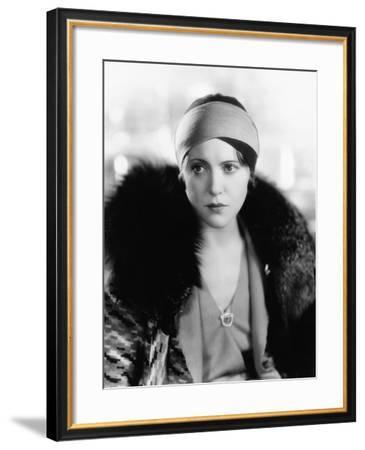 Portrait of Woman Wearing Fur--Framed Photo