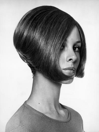 Portrait of Woman With Modern Haircut-George Marks-Photographic Print