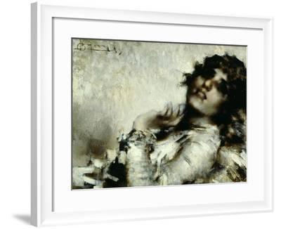 Portrait of Woman-Luigi Conconi-Framed Giclee Print