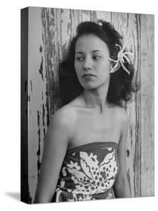 Portrait of Young Hawaiian Woman