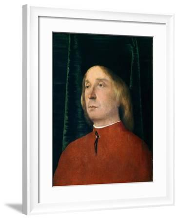 Portrait of Young Man in Red Suit--Framed Giclee Print