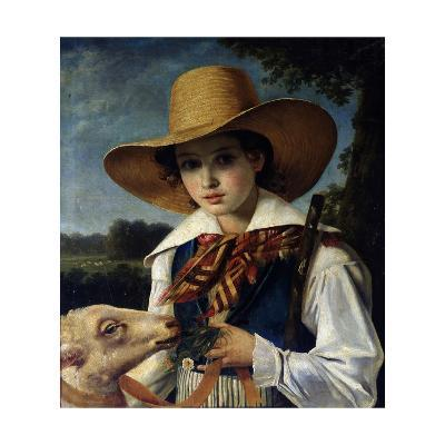 Portrait of Young Marius Peptipa, C.1837-Jean Godechart-Giclee Print